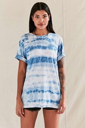 Urban Renewal Vintage Lightning Bolt Tie Dye Tee Blue
