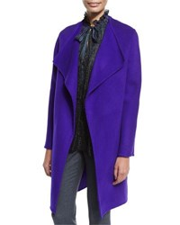 Elie Tahari Dez Open Front Oversized Coat Mirage