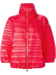 Moncler 'Taucaud' Cropped Padded Jacket Pink And Purple