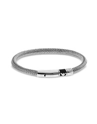 Emporio Armani Iconic Woven Stainless Steel Men's Bracelet