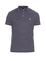 Polo Ralph Lauren Striped Cotton Polo Shirt Navy Multi