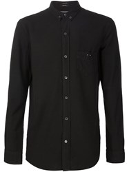 R 13 R13 Button Down Collar Shirt Black