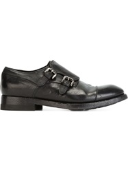 Silvano Sassetti Classic Monk Shoes Black