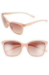 Women's Smith Optics 'Colette' 55Mm Polarized Sunglasses Blush Sienna Gradient