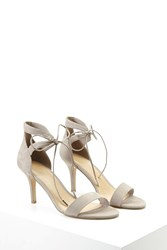 Forever 21 Ankle Strap Faux Suede Pumps