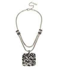 Kenneth Cole Pendant Necklace Mixed Metal