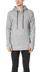 Public School Elongated French Terry Side Zip Sweatshirt Heather Grey