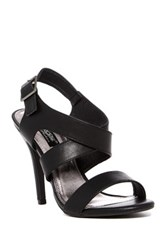 Elegant Footwear Tifany Crisscross Stiletto Sandal Black