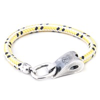Anchor And Crew Stornoway Rope And Silver Bracelet Yellow Dash