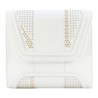 Yliana Yepez Studded Mini Giovanna Clutch White