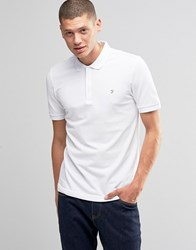 Farah Polo Shirt In Regular Fit In White White