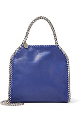 Stella Mccartney The Falabella Mini Faux Brushed Leather Tote Royal Blue