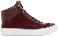 Burgundy Suede Origami High Tops