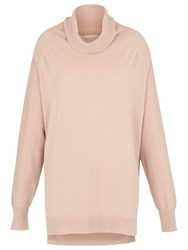 Whistles Cashmere Cowl Neck Jumper Pale Pink