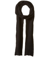 Echo Stretch Fleece Muffler Black Scarves