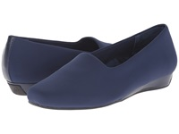Vionic With Orthaheel Technology Treat Powell Low Wedge Navy Stretch Women's Wedge Shoes Blue