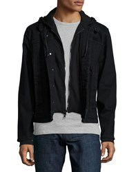 Hudson Jeans Denim Jacket With Fleece Insert Black