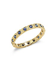 Ila Blue Sapphire In 14Kt Yellow Gold Freemont Ring