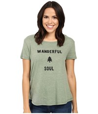 Alternative Apparel Backstage Vintage Jersey Graphic Tee Vintage Pine Wanderful Soul Graphic Women's T Shirt Green