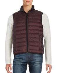 Hawke And Co Packable Water Resistant Reversible Quilted Vest Eggplant