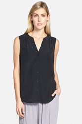 Chelsea 28 Sleeveless Button Front Shirt Black