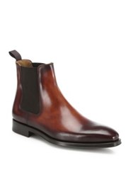 Saks Fifth Avenue Leather Chelsea Boots Cognac
