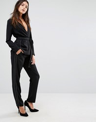Vero Moda Stitch Detail Relaxed Trousers Black