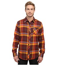 Marmot Anderson Flannel Long Sleeve Shirt Red Night Men's Long Sleeve Button Up