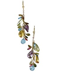 Effy 14 Kt. Yellow Gold Multi Colored Gemstone Drop Earrings
