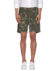Hydrogen Trousers Bermuda Shorts Men Dark Green