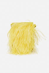 Marques Almeida Ostrich Feather Leather Shoulder Bag Yellow
