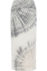 Raquel Allegra Tie Dyed Cotton Blend Jersey Maxi Skirt