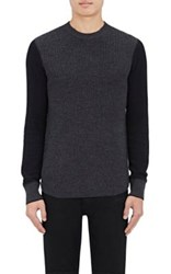 Rag And Bone Men's Radford Merino Wool Blend Thermal Sweater Dark Grey