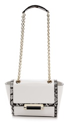 Diane Von Furstenberg 440 Mini Satchel With Exotic Print White White Black Snake