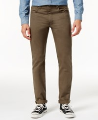 Dickies Men's Slim Tapered Fit Crossover Pants Moss