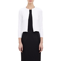 Barneys New York Cropped Cardigan White