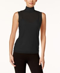Calvin Klein Mock Turtleneck Shell Black