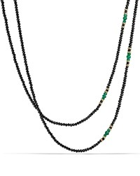 David Yurman Osetra Tweejoux Necklace With Black Spinel Green Onyx And 18K Gold Green Black