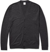 Paul Smith Merino Wool Cardigan Gray