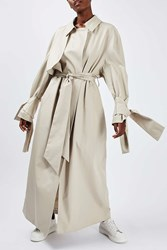 Boutique Tie Sleeve Trench By Stone