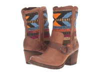 Born Panarea Etiope Brown Wool Combo Women's Boots