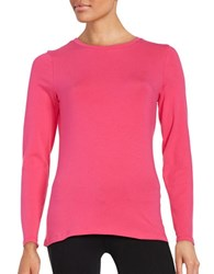 Lord And Taylor Long Sleeve Tee Cosmopolitan Pink