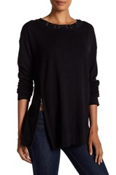 Cullen Double Knit Zip Sweater Black