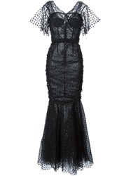 Dolce And Gabbana Fish Tail Evening Dress Black