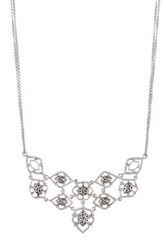 Lois Hill Sterling Silver Mixed Signature Component Bib Necklace Metallic
