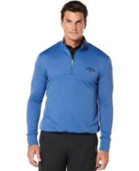 Callaway Golf Performance 1 4 Zip Waffled Fleece Palace Blu