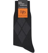 Dore Dore Harlequin Merino Wool Socks Black
