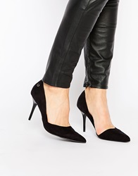 Blink Cherise Cut Out Point Court Shoes Black