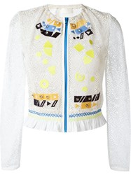 Peter Pilotto 'Solar' Embroidered Jacket White