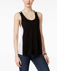 Calvin Klein Jeans Colorblocked Tank Top Black And White Combo
